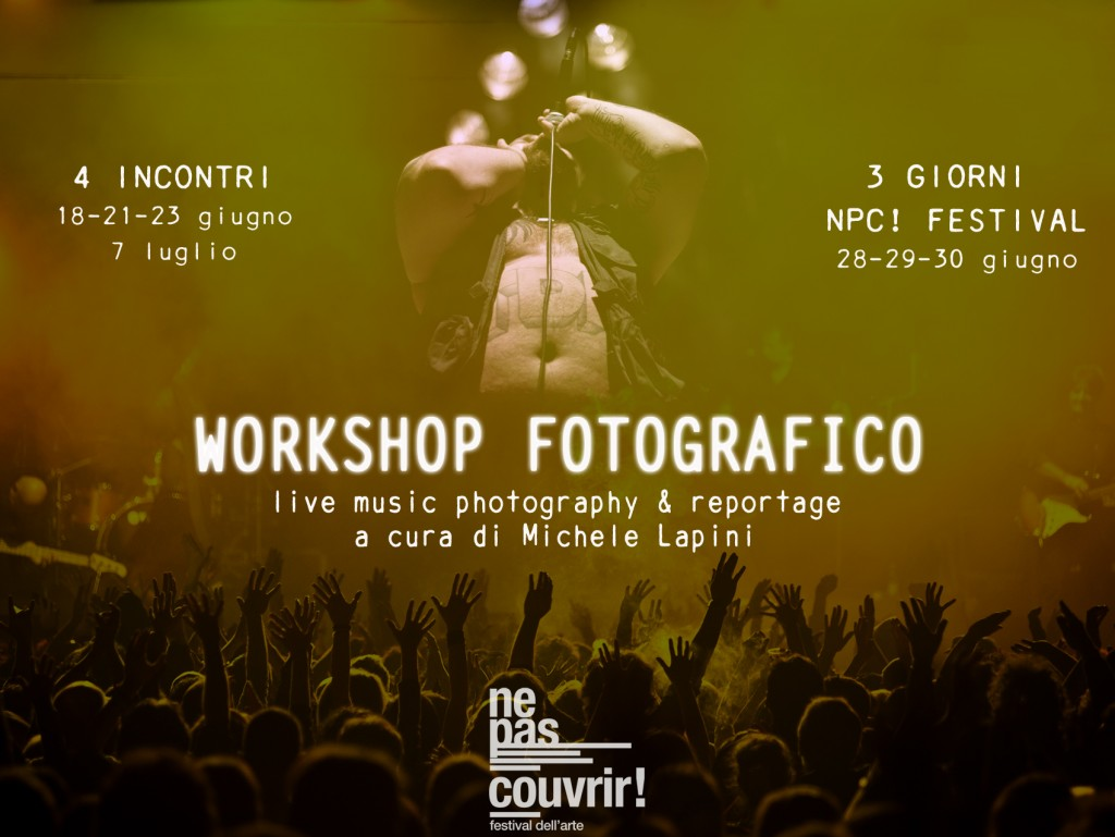 Workshop live music photography reportage michele for Gettare i piani del workshop